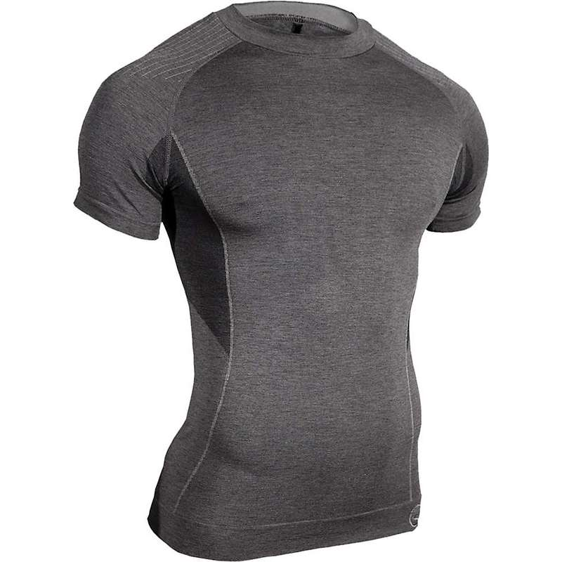 シャワーパス メンズ Tシャツ トップス Showers Pass Men's SS Body Mapped Baselayer Top Graphite
