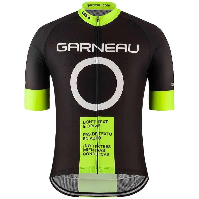 イルスガーナー メンズ シャツ トップス Louis Garneau Men's Dont Text and Drive Jersey Black / Yellow