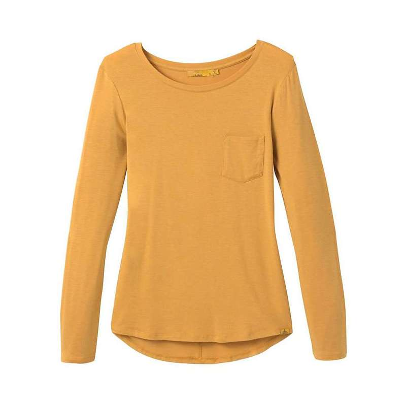 プラーナ レディース シャツ トップス Prana Women's Foundation LS Crew Neck Top Golden Sky Heather