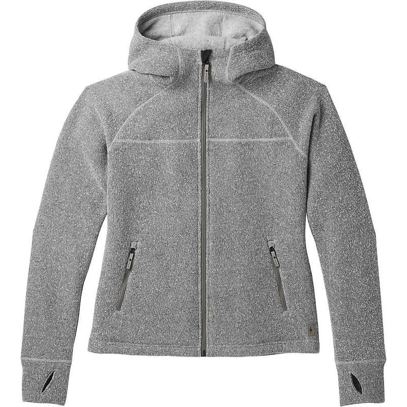 スマートウール レディース ニット・セーター アウター Smartwool Women's Hudson Trail Full Zip Fleece Sweater Light Gray
