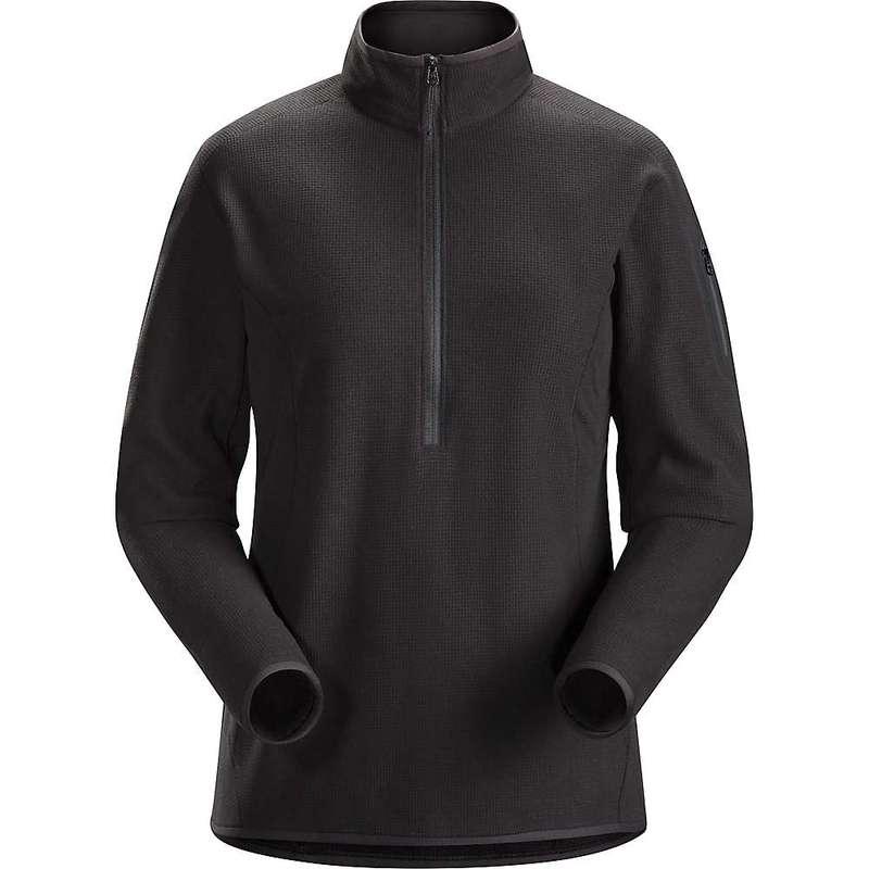 アークテリクス レディース パーカー・スウェット アウター Arcteryx Women's Delta LT Zip Neck Pullover Black