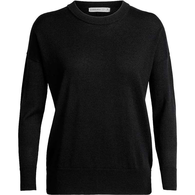 アイスブレーカー レディース ニット・セーター アウター Icebreaker Women's Shearer Crewe Sweater Black