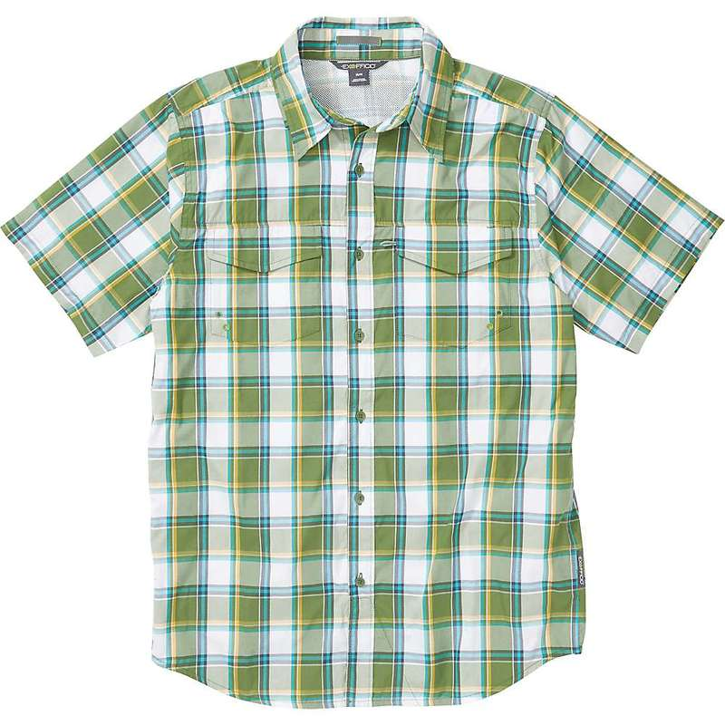 エクスオフィシオ メンズ シャツ トップス ExOfficio Men's Estacado SS Shirt Alpine Green