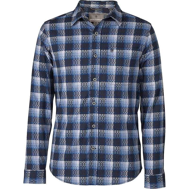 ロイヤルロビンズ メンズ シャツ トップス Royal Robbins Mens Thermotech Drake Plaid LS Shirt Twilight Blue