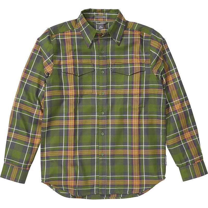 エクスオフィシオ メンズ シャツ トップス ExOfficio Men's Stonefly Midweight Flannel LS Shirt Alpine Green