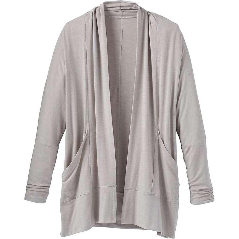 プラーナ レディース シャツ トップス Prana Women's Foundation Wrap Cardigan Light Grey Heather