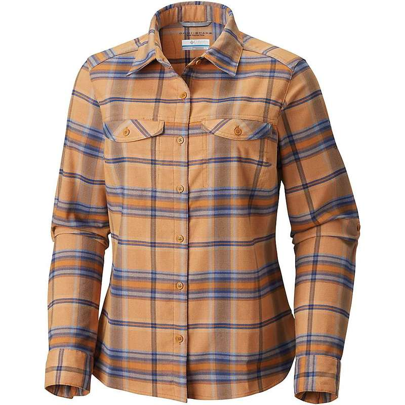 コロンビア レディース シャツ トップス Columbia Women's Silver Ridge LS Flannel Shirt Canyon Gold Ombre Window Plaid