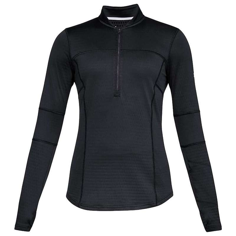 アンダーアーマー レディース シャツ トップス Under Armour Women's Spectra 1/2 Zip Top Black / Black / Overcast Gray