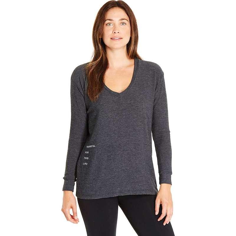 グッドヨーマン レディース ニット・セーター アウター good hYOUman Women's Robin LS Vneck Sweater Chrcoal / Nothing Decaf