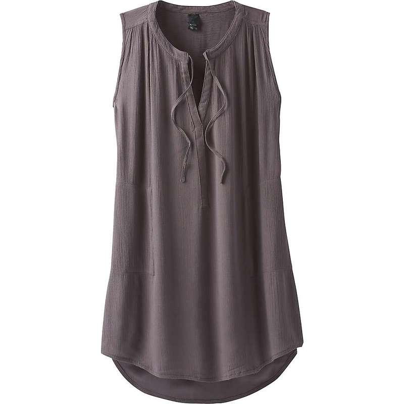 プラーナ レディース Tシャツ トップス Prana Women's Natassa Crinkled Tunic Granite