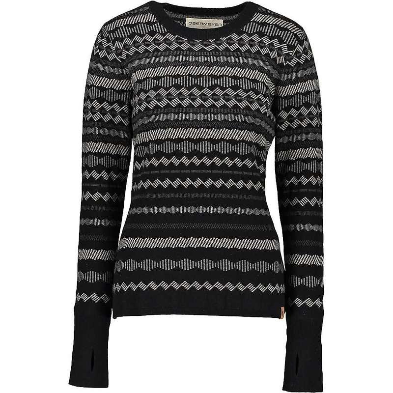 オバマイヤー レディース ニット・セーター アウター Obermyer Women's Reece Ski Sweater Black