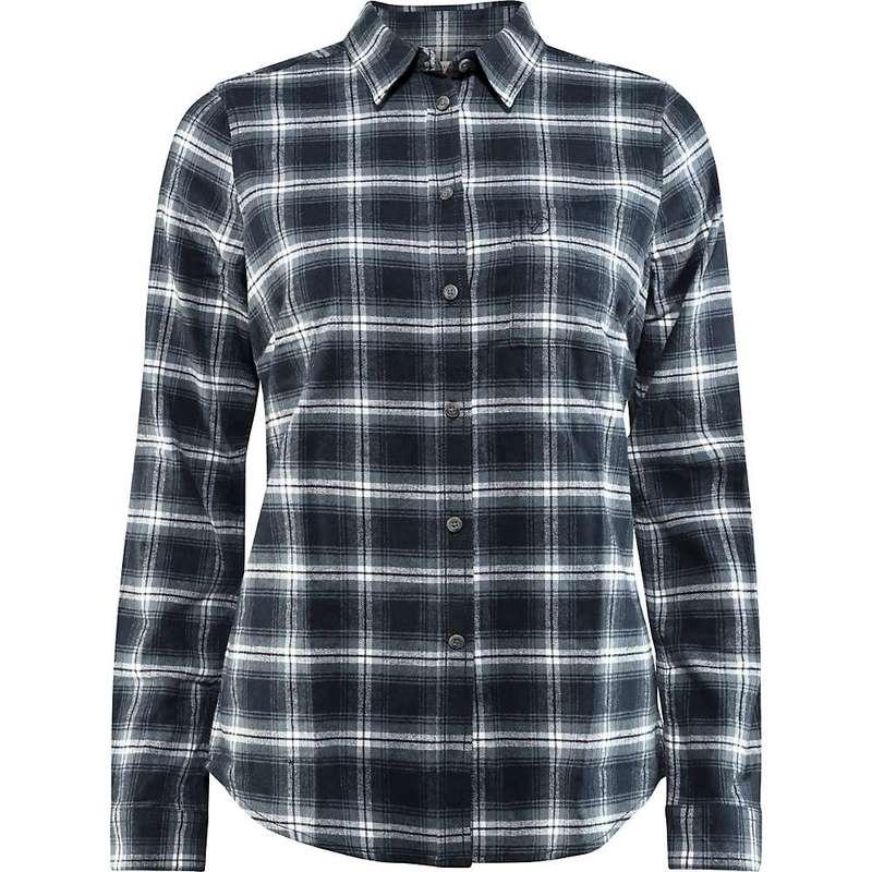 フェールラーベン レディース シャツ トップス Fjallraven Women's Ovik Flannel LS Shirt Dark Navy