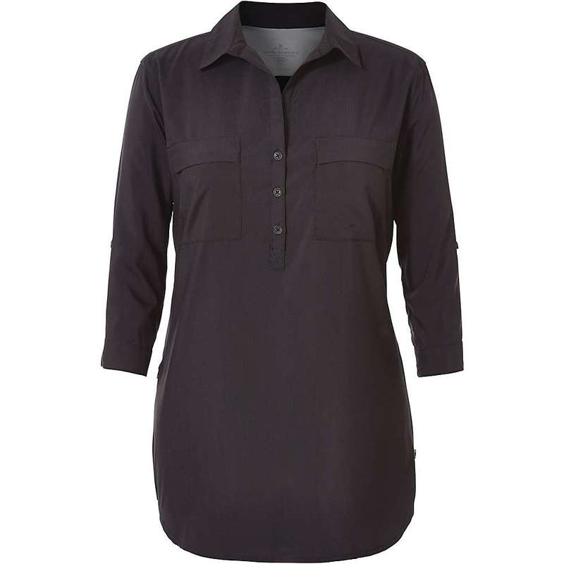 ロイヤルロビンズ レディース シャツ トップス Royal Robbins Women's Expedition Chill Stretch Tunic Jet Black