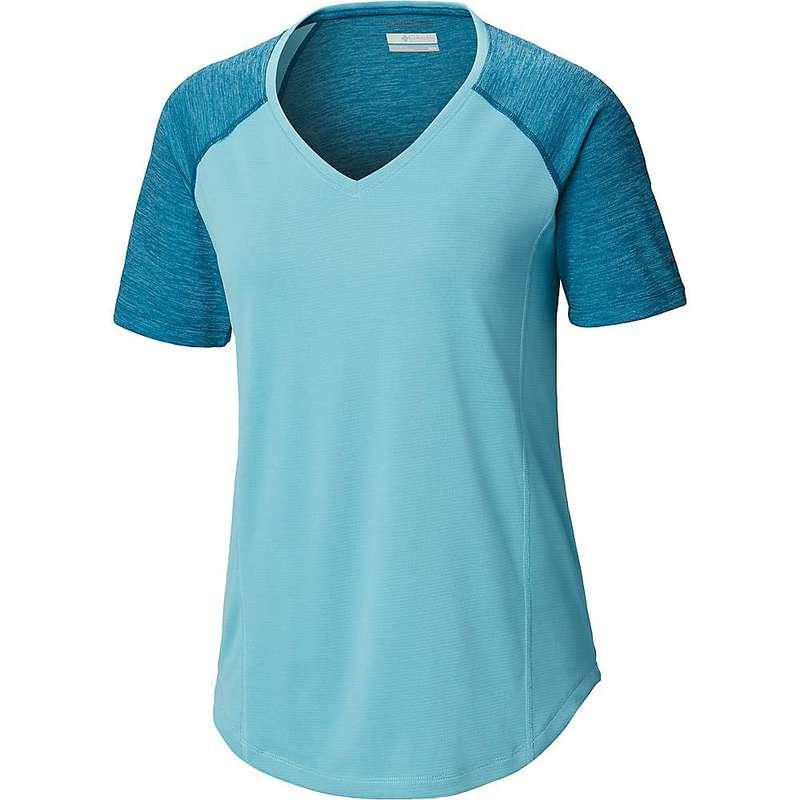コロンビア レディース Tシャツ トップス Columbia Women's Bryce Peak SS Shirt Siberia Heather / Clear Blue