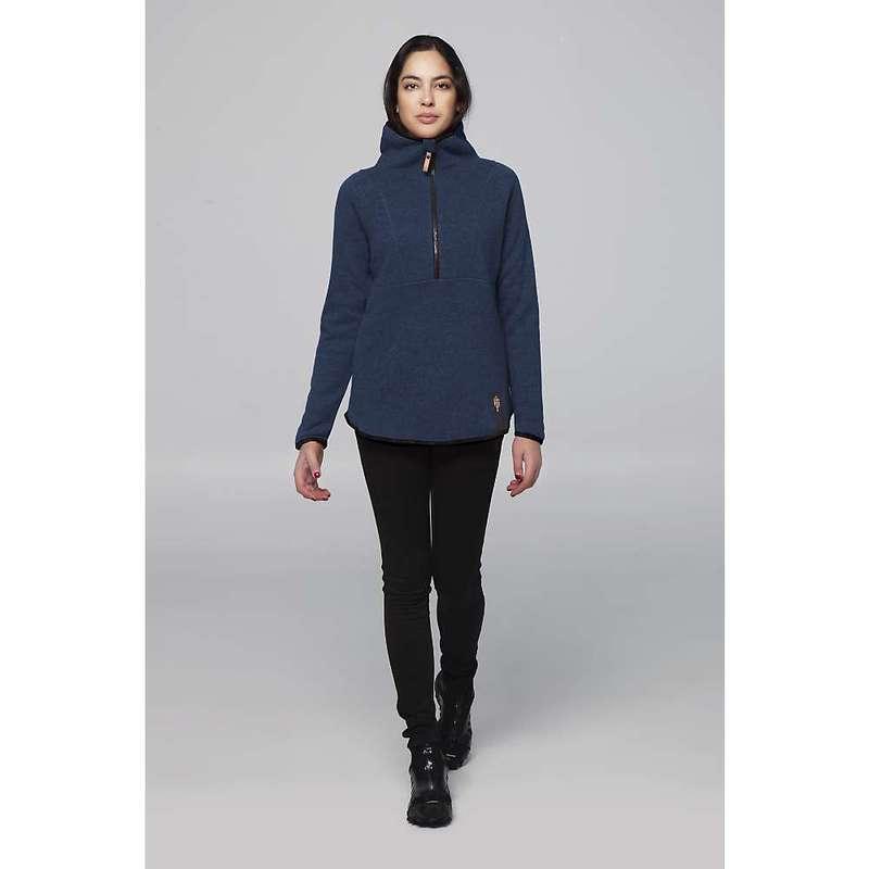 インデジェナ レディース ニット・セーター アウター Indygena Women's Hiti 1/2 Zip Fleece Knit Top Blue Ash H