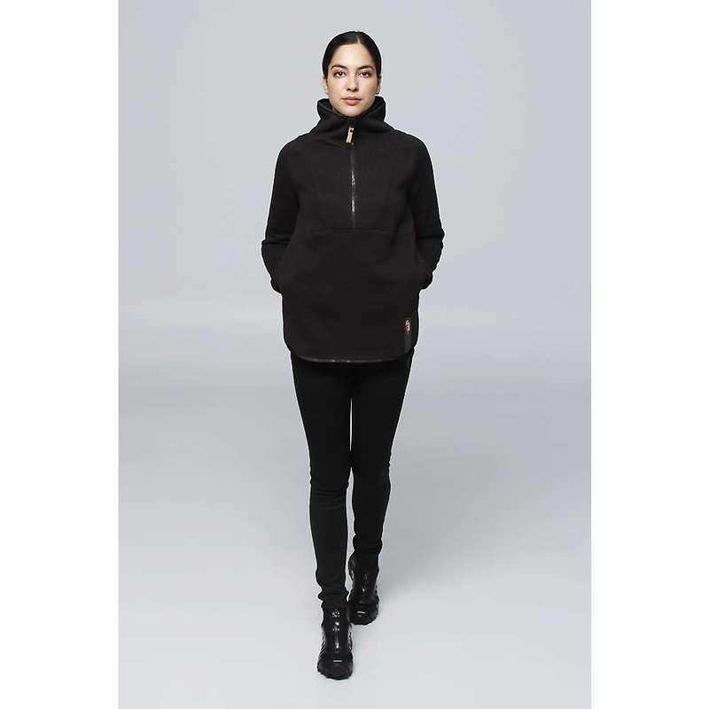 送料無料 サイズ交換無料 インデジェナ レディース アウター ニット セーター まとめ買い特価 Pure Black Knit Women's Hiti 2 Zip 受注生産品 Top 1 Indygena Fleece
