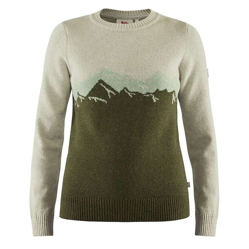 フェールラーベン レディース ニット・セーター アウター Fjallraven Women's Greenland Re-Wool View Sweater Laurel Green