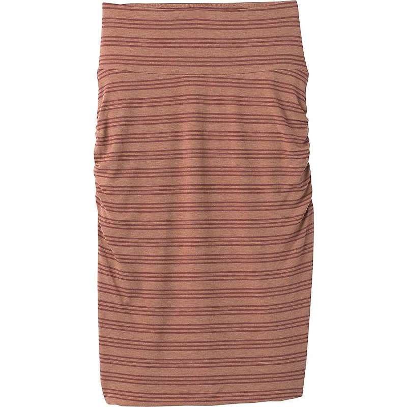 プラーナ レディース スカート ボトムス Prana Women's Foundation Skirt Vino Heather Stripe