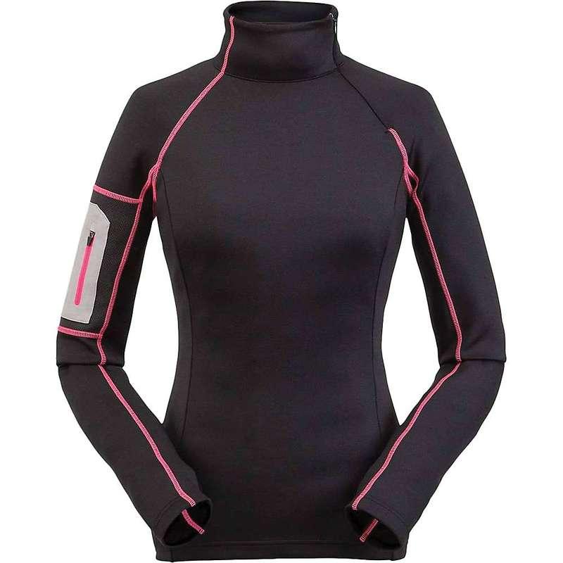 スパイダー レディース シャツ トップス Spyder Women's Halcyon Zip T-Neck Top Black