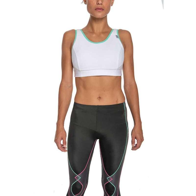 CW-X レディース ブラジャー アンダーウェア CW-X Women's Stabilyx Running Bra White / Turquoise