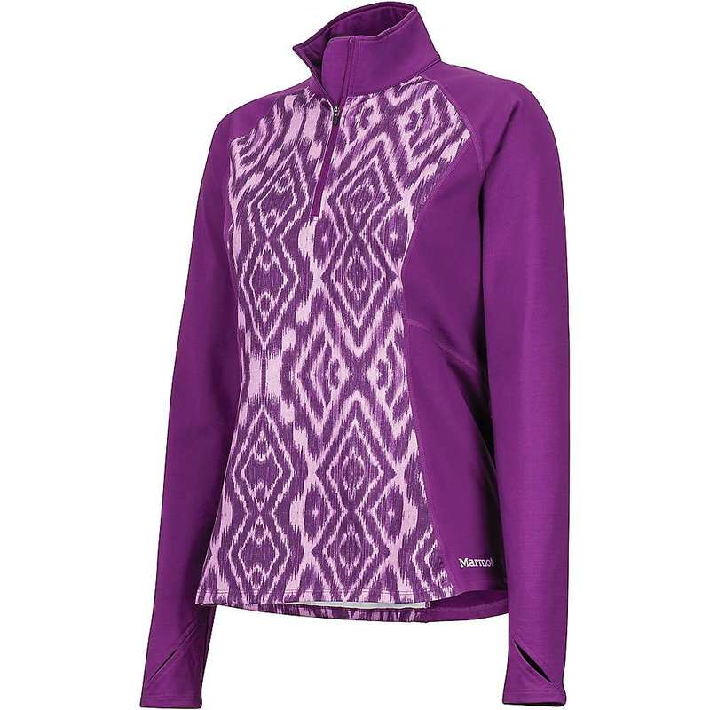マーモット レディース シャツ トップス Marmot Women's Heavyweight Nicole 1/2 Zip Top Grape Textured Ikat