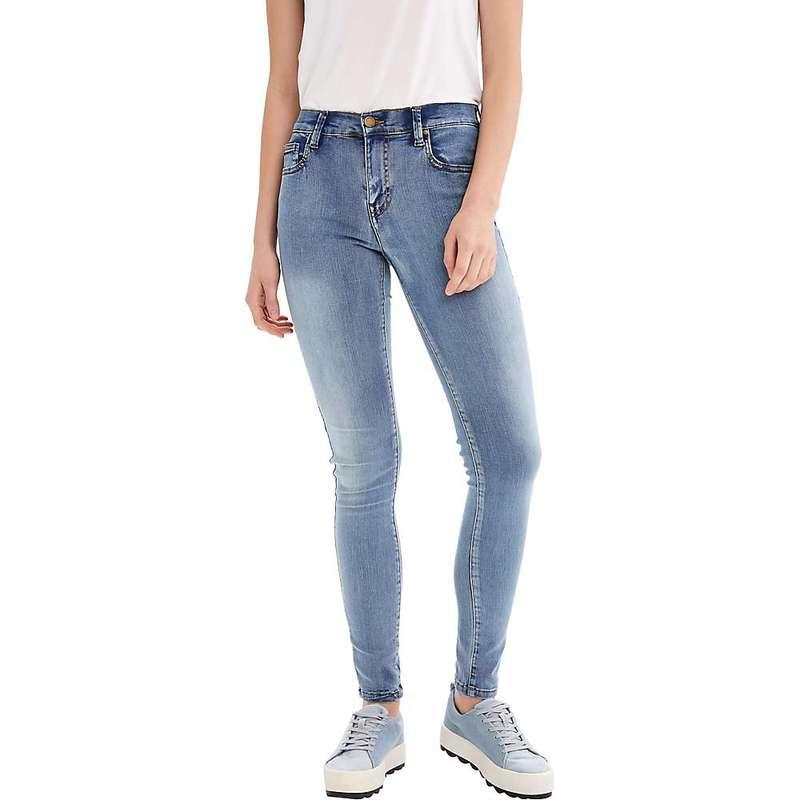 ロル レディース カジュアルパンツ ボトムス Lole Women's Skinny Long Jean Stonewash Denim