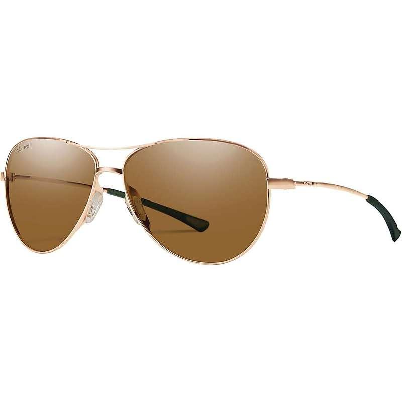 スミス レディース サングラス・アイウェア アクセサリー Smith Women's Langley Polarized Sunglasses Matte Rose Gold/Polarized Brown
