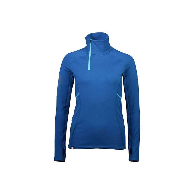 モンスロイヤル レディース シャツ トップス Mons Royale Women's Olympus Half Zip Top Oily Blue