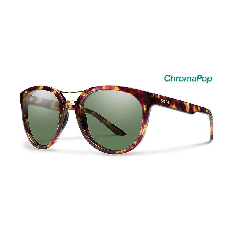 スミス レディース サングラス・アイウェア アクセサリー Smith Women's Bridgetown ChromaPop Polarized Sunglasses Tortoise / Polarized Grey Green