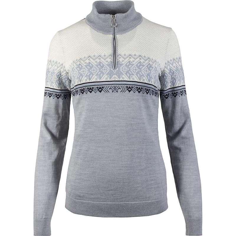 ダールオブノルウェイ レディース ニット・セーター アウター Dale Of Norway Women's Hovden Feminine Sweater Grey / Ice Blue / Navy / Off White