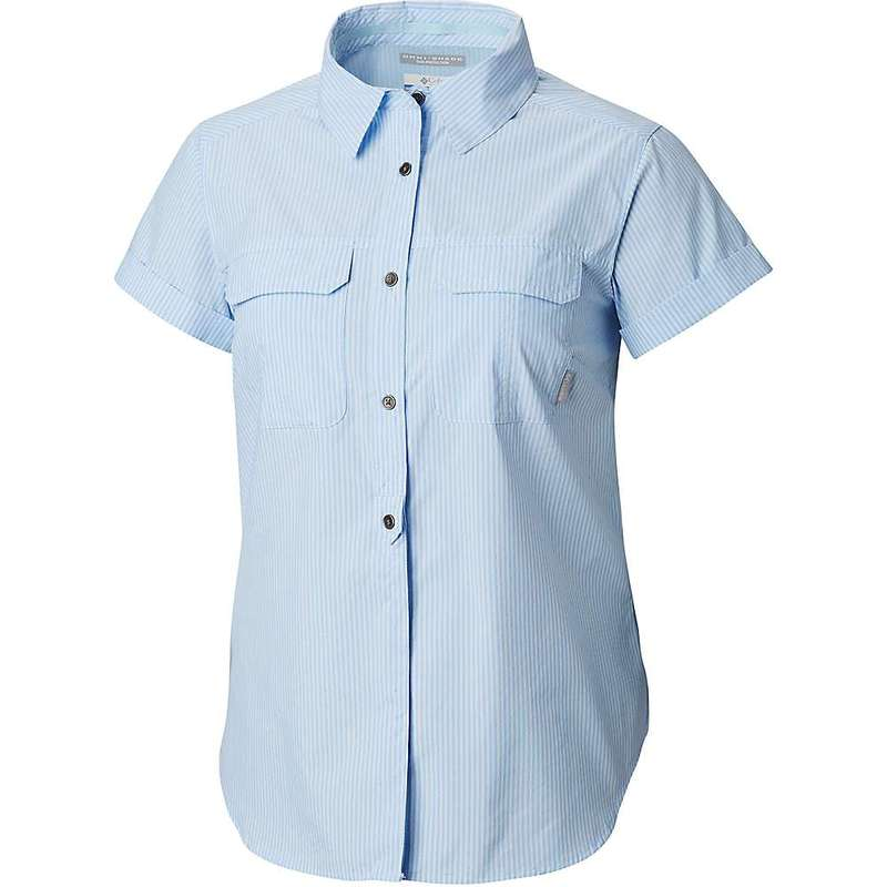 コロンビア レディース シャツ トップス Columbia Women's Pilsner Peak Novelty SS Shirt Pale Blue Stripe
