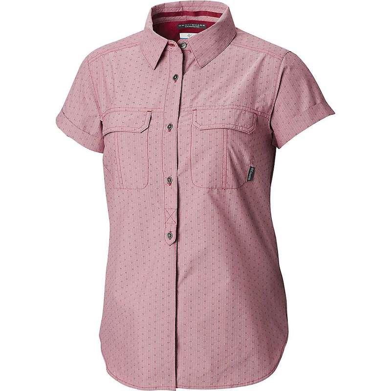 コロンビア レディース シャツ トップス Columbia Women's Pilsner Peak Novelty SS Shirt Wine Berry Stripe