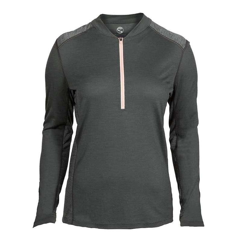 シャワーパス レディース シャツ トップス Showers Pass Women's Ridgeline Half-Zip Long Sleeve Shirt Dark Shadow
