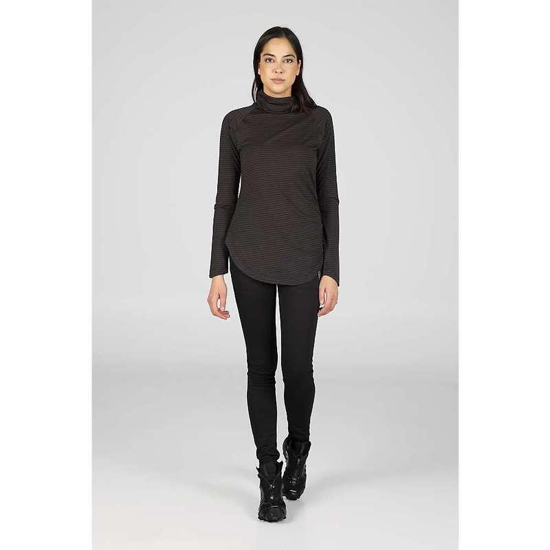 インデジェナ レディース ニット・セーター アウター Indygena Women's Riga Thermo Balance Sweater Black Stripe