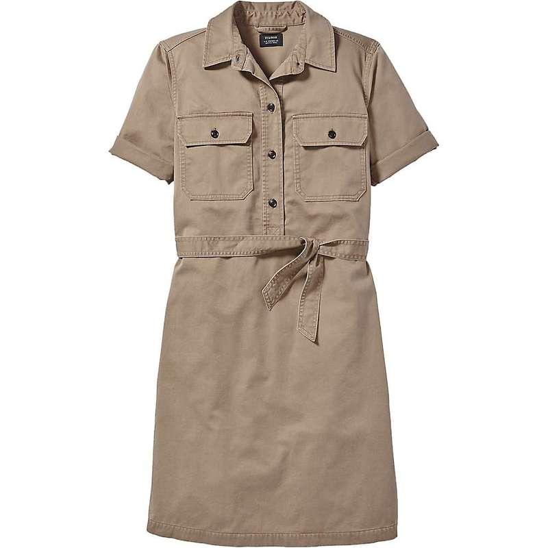 フィルソン レディース ワンピース トップス Filson Women's Colville SS Shirt Dress Dark Tan