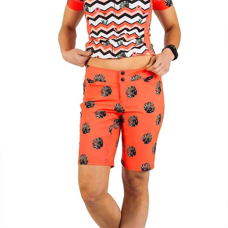 シービースト レディース ハーフパンツ・ショーツ ボトムス Shebeest Women's Skinny Americano Plus Size Short Split Leaf / Watermelon