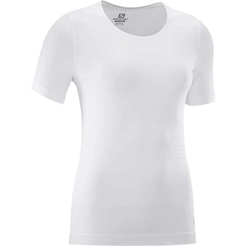 サロモン レディース Tシャツ トップス Salomon Women's Elevate Move' On SS Tee White