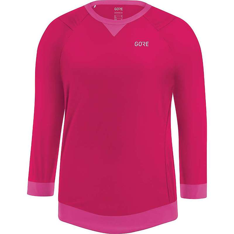 ゴアウェア レディース シャツ トップス Gore Wear Women's Gore C5 All Mountain 3/4 Jersey Jazzy Pink / Raspberry Rose