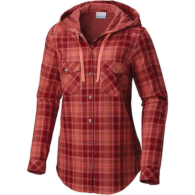コロンビア レディース シャツ トップス Columbia Women's Times Two LS Hooded Shirt Melonade Plaid