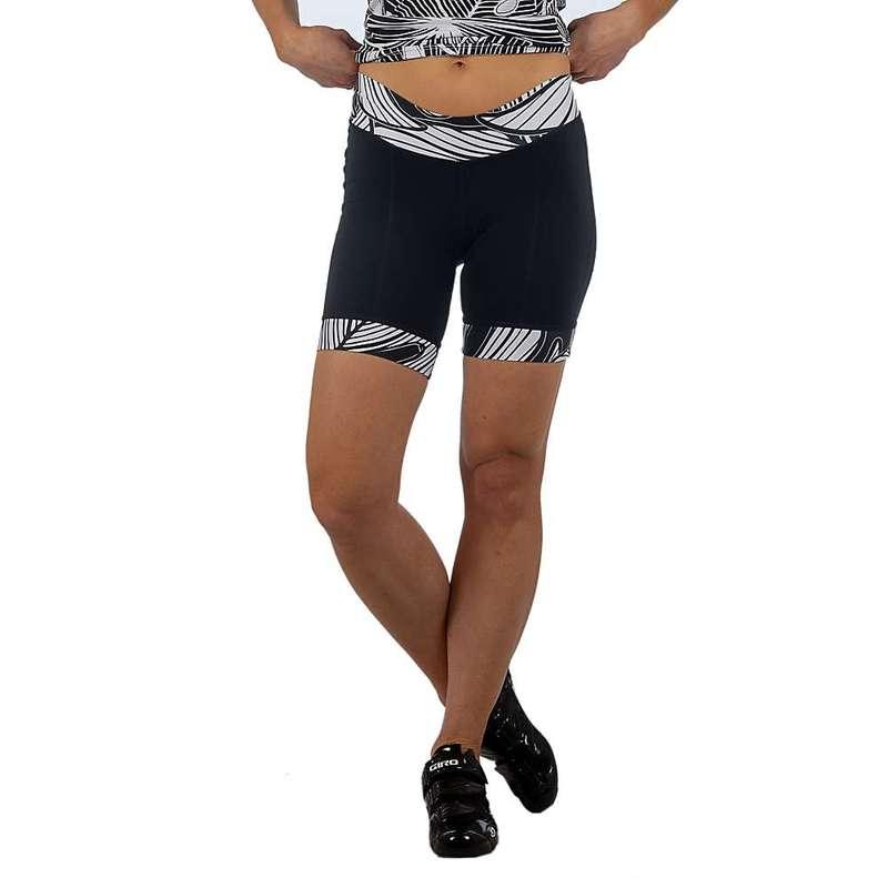 シービースト レディース ハーフパンツ・ショーツ ボトムス Shebeest Women's Ultimo 7 inch Short Banana Leaf Black / White
