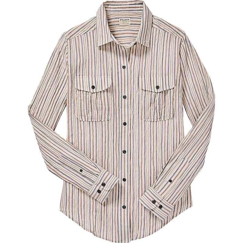 フィルソン レディース シャツ トップス Filson Women's Kadin Island Shirt Natural / Blue / Brown Plaid