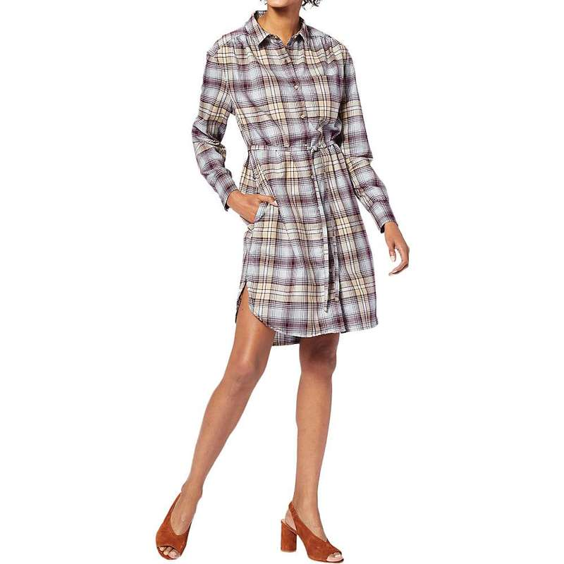 ペンドルトン レディース ワンピース トップス Pendleton Women's Long Sleeve Plaid Shirt Dress Fig/Taupe Plaid