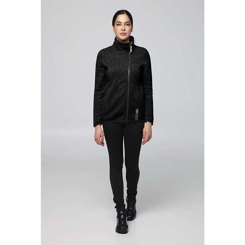 インデジェナ レディース ニット・セーター アウター Indygena Women's Kaula Zip-Up Fleece Knit Top Pure Black