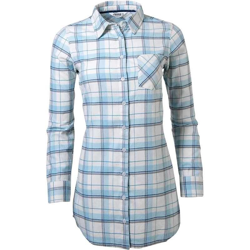マウンテンカーキス レディース シャツ トップス Mountain Khakis Women's Penny Flannel Tunic Silver Blue