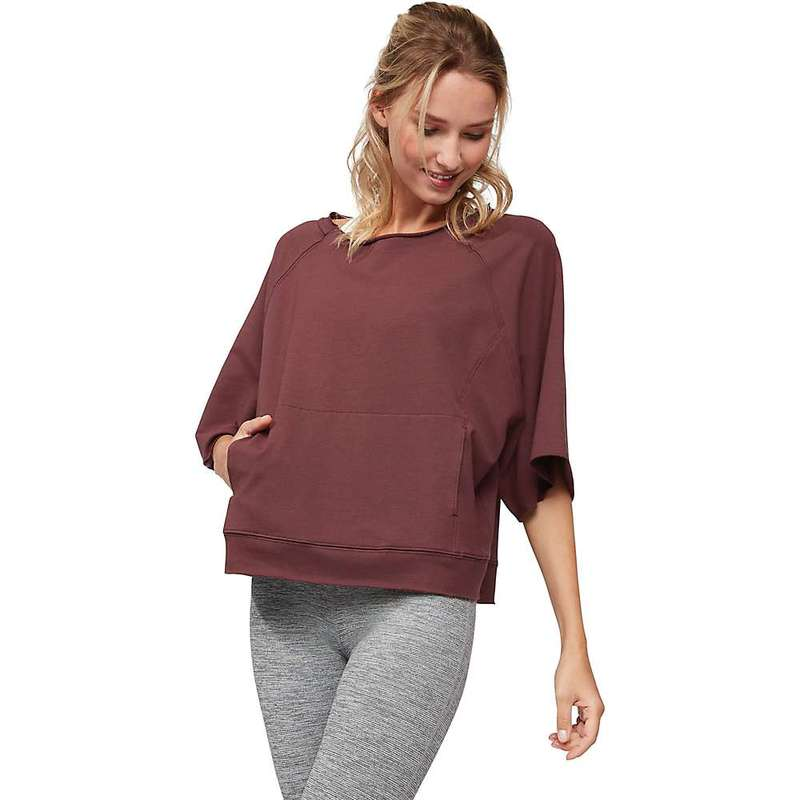 マンデュラ レディース ニット・セーター アウター Manduka Women's Resolution Raglan Pullover Top Dark Chestnut