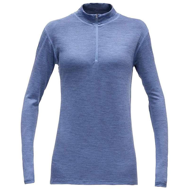 ディボルド レディース シャツ トップス Devold Women's Breeze Half Zip Neck Bluebell Melange