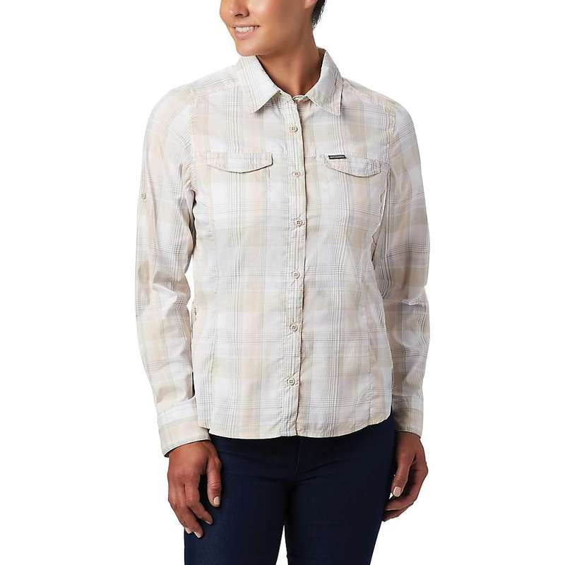 コロンビア レディース シャツ トップス Columbia Women's Silver Ridge Lite Plaid LS Shirt Fossil Medium Multi Plaid