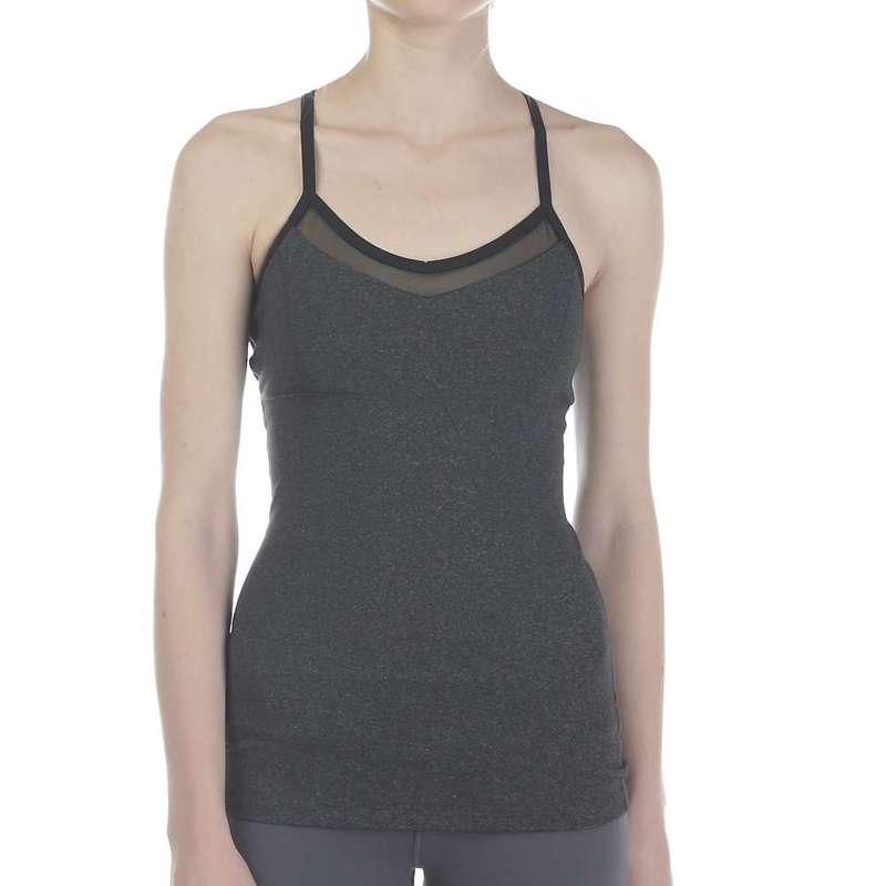 ビヨンドヨガ レディース Tシャツ トップス Beyond Yoga Women's Point and Curve Mesh Cami Heather Gray
