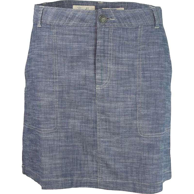 パーネル レディース スカート ボトムス Purnell Women's Chambray Skirt Indigo