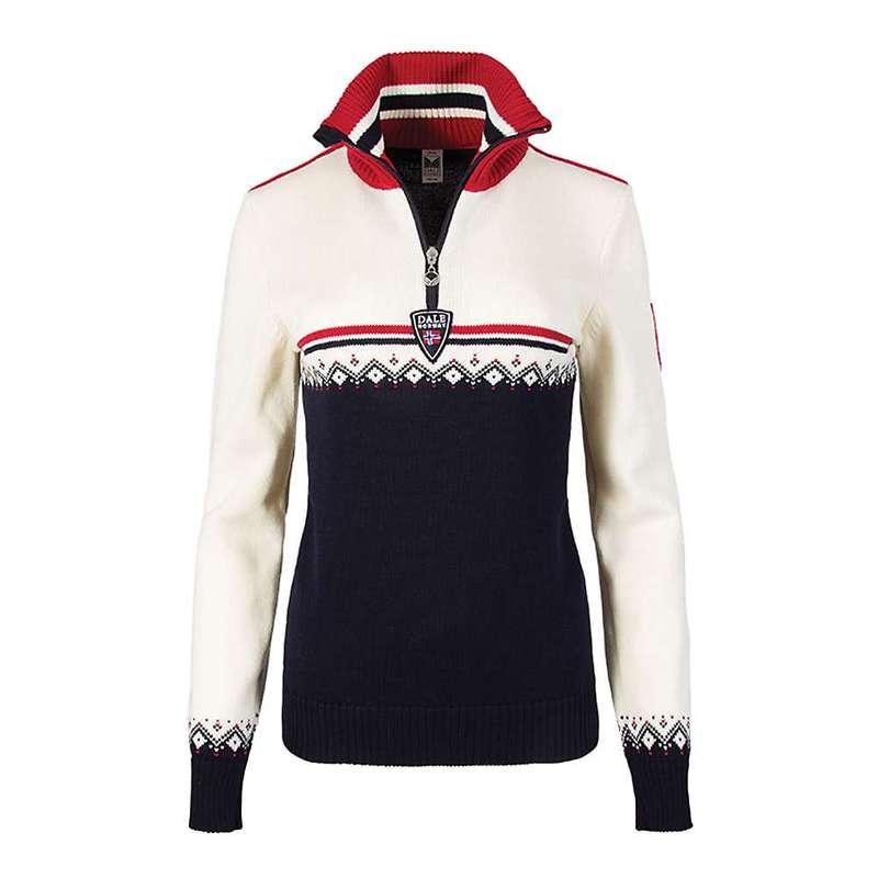 ダールオブノルウェイ レディース ニット・セーター アウター Dale Of Norway Women's Lahti Feminine Sweater Navy / Raspberry / Off White